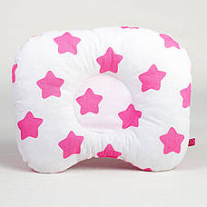 """Комплект в детскую коляску """"Розовые звездочки"""" одеяло 65 х 75 см подушка 22 х 26 см розовый, фото 2"""