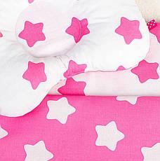 """Комплект в детскую коляску """"Розовые звездочки"""" одеяло 65 х 75 см подушка 22 х 26 см розовый, фото 3"""
