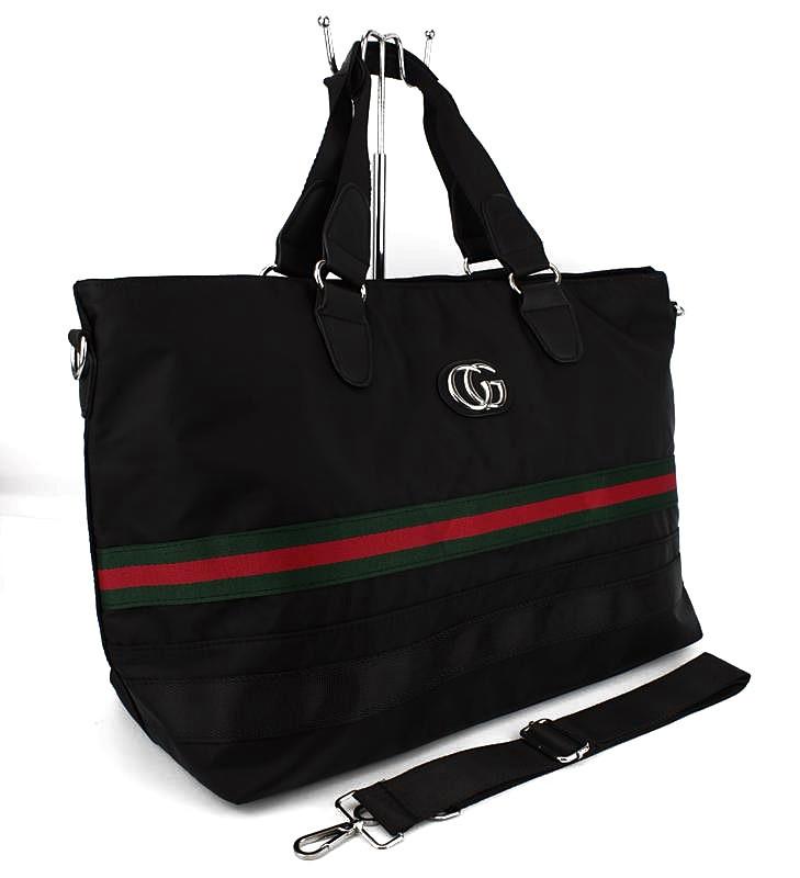 3f35f00678ad Сумка дорожная спортивная текстильная черная Gucci 39825- купить по ...