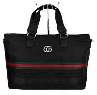 Сумка дорожная спортивная текстильная черная Gucci 39825, фото 1