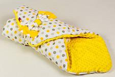 Зимний плюшевый конверт на выписку BabySoon Солнышко 80 х 85 см желтый (060), фото 2