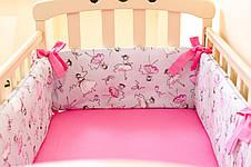 """Бортики в детскую кроватку """"Балерины"""" 360см х 27см, фото 2"""