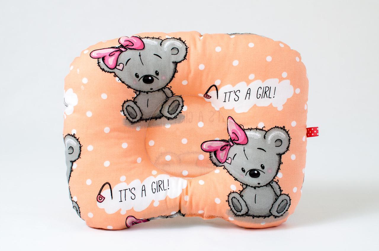 """Детская ортопедическая подушка """"It's a girl"""""""