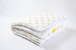 """Демисезонный плюшевый конверт - одеяло на выписку """"Золотые короны"""" 78 х 85 см, фото 2"""