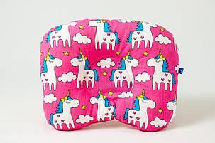 """Летний комплект в коляску """"Розовые пони"""" одеяло 65 х 75 см подушка 22 х 26 см, фото 2"""