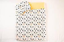 """Комплект в коляску """"Персиковые барашки"""" одеяло 65 х 75 см подушка 22 х 26 см, фото 2"""