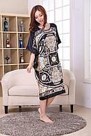 Атласное платье-туника большие размеры
