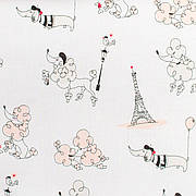 """Простынь на резинке в детскую коляску """"Париж"""" 80 х 40 см (100% хлопок)"""