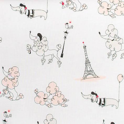 """Простынь на резинке в детскую коляску """"Париж"""" 80 х 40 см (100% хлопок), фото 2"""