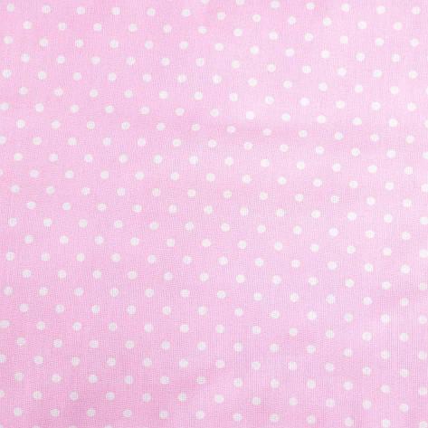 """Простынь на резинке в детскую коляску """"Розовая в мелкий горошек"""" 80 х 40 см, фото 2"""