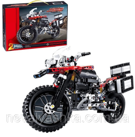Конструктор DECOOL Мотоцикл БМВ BMW R1200 GS, 603 дет., 3369 b (аналог Lego Technic 42063), 005902