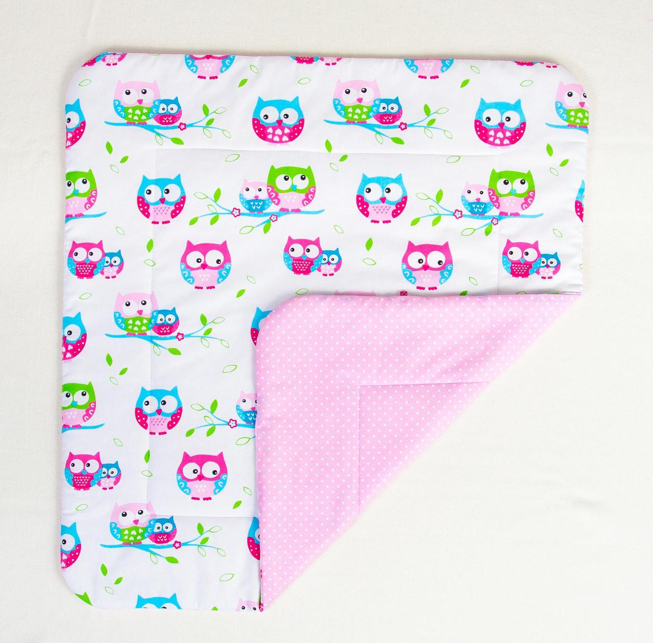 """Детское хлопковое одеяло """"Нежные совушки"""" 80 х 85 см розовый"""