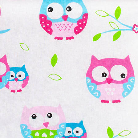 """Детское хлопковое одеяло """"Нежные совушки"""" 80 х 85 см розовый, фото 2"""