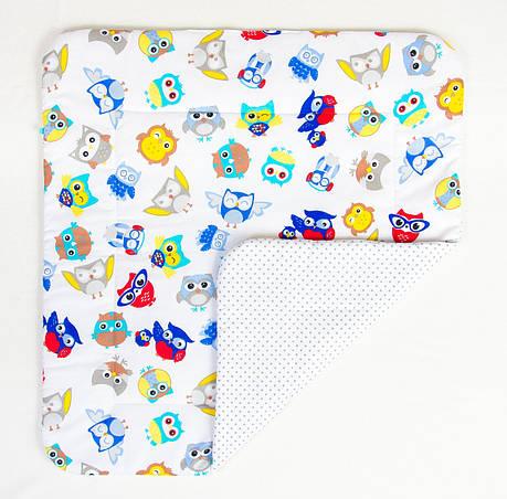 """Детское хлопковое одеяло """"Совы в наушниках"""" 80 х 85 см, фото 2"""