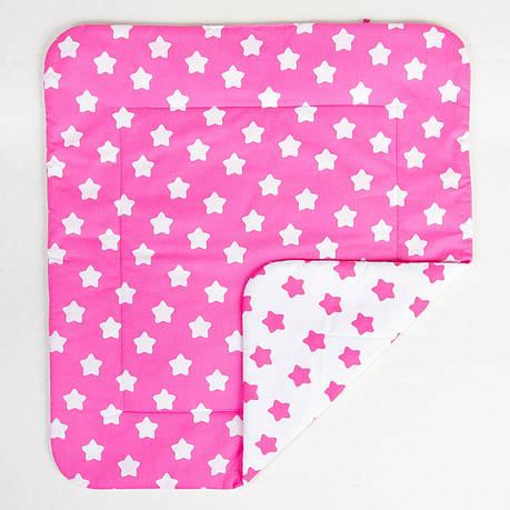 """Детское хлопковое одеяло """"Розовые звезды"""" 80 х 85 см, фото 2"""