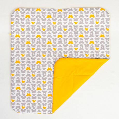 """Детское хлопковое одеяло """"Серые бабочки"""" 80 х 85 см, фото 2"""