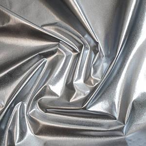 Плащевка металлик (фольга) серебро