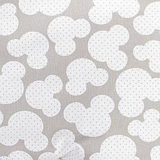 """Постельное белье в детскую колыбель, три предмета (одеяло, подушка, простынь) """"Микки"""" Серый, фото 3"""