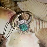 Аква кольцо с аквамарином размер 17 аквамарин, фото 3
