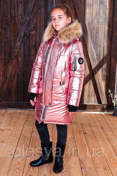 Удлиненное зимнее пальто для девочек Кристина Размеры 118- 156