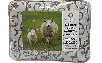 Шерстяное одеяло евро ТМ Главтекстиль, фото 2