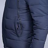 Чоловіча зимова куртка великого розміру, синього кольору., фото 4