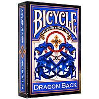 Карты игральные Bicycle Dragon Back Blue