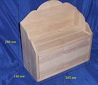 Полка с 2-мя шухлядами 28.5х14х28 см Дерево заготовка для декора