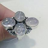 Кварц кольцо с натуральным розовым кварцем в серебре. Размер 17,5. Индия, фото 4
