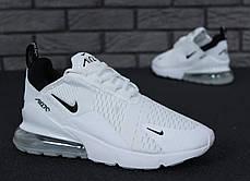 Мужские кроссовки Nike Air Max 270 White топ реплика , фото 3