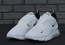 Мужские кроссовки Nike Air Max 270 White топ реплика , фото 2
