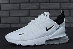 Чоловічі кросівки Nike Air Max 270 White топ репліка