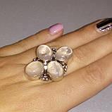 Кварц кольцо с натуральным розовым кварцем в серебре. Размер 17,5. Индия, фото 3