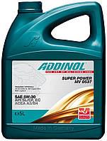 ADDINOL MV 0537 Super Power 4l. Масло моторное синтетическое для легкового автомобиля