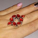 Гранат красивое кольцо с гранатом в серебре. Размер кольца 20. Индия!, фото 2