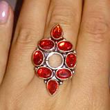 Гранат красивое кольцо с гранатом в серебре. Размер кольца 20. Индия!, фото 3