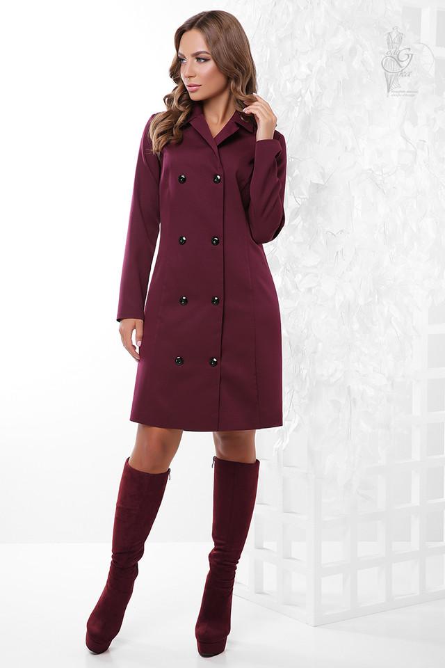 Цвет баклажан Длинного пиджака женского Марсель