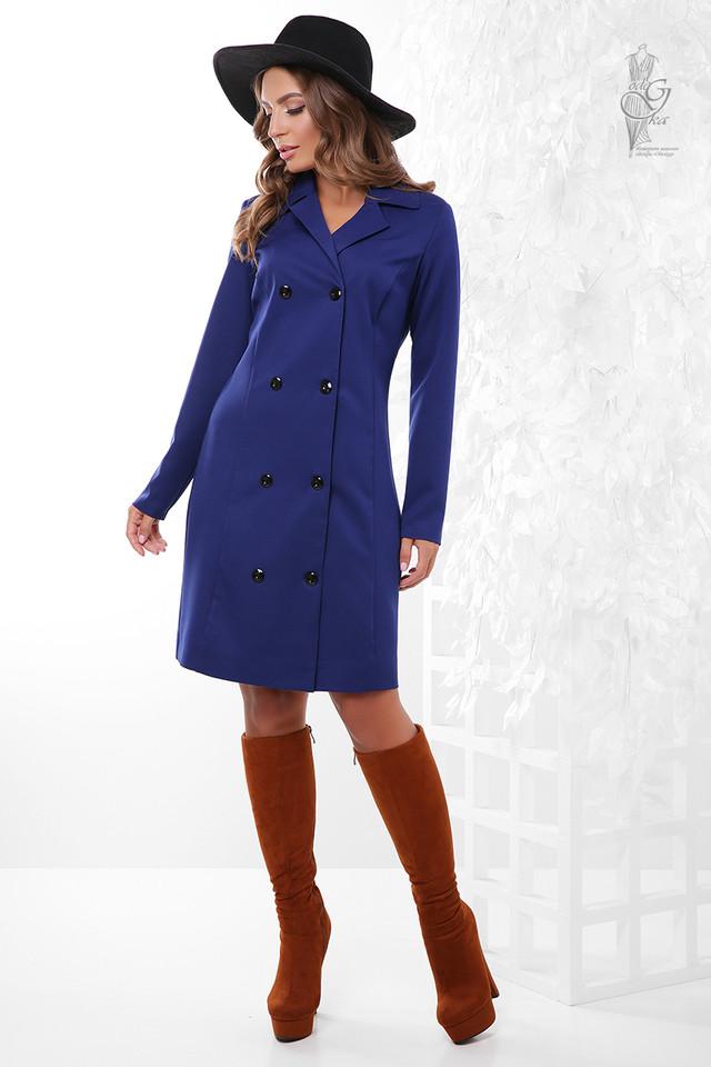 Цвет электрик Длинного пиджака женского Марсель