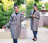 Пальто Абстракция с карманами на подкладе 50-56 р, фото 1