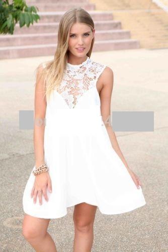Платье свободного покроя белый цвет
