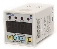 Счётчик цифровой 220V AC CO X1 -(0-9.999)  X2 -(10-99.990)