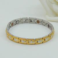 Кросс- стальной браслет с турмалином, родием, магнитами, №8591