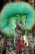 Зимний теплый комбинезон для девочки с натуральным мехом 98-116р, фото 2