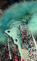 Зимний теплый комбинезон для девочки с натуральным мехом 98-116р, фото 3