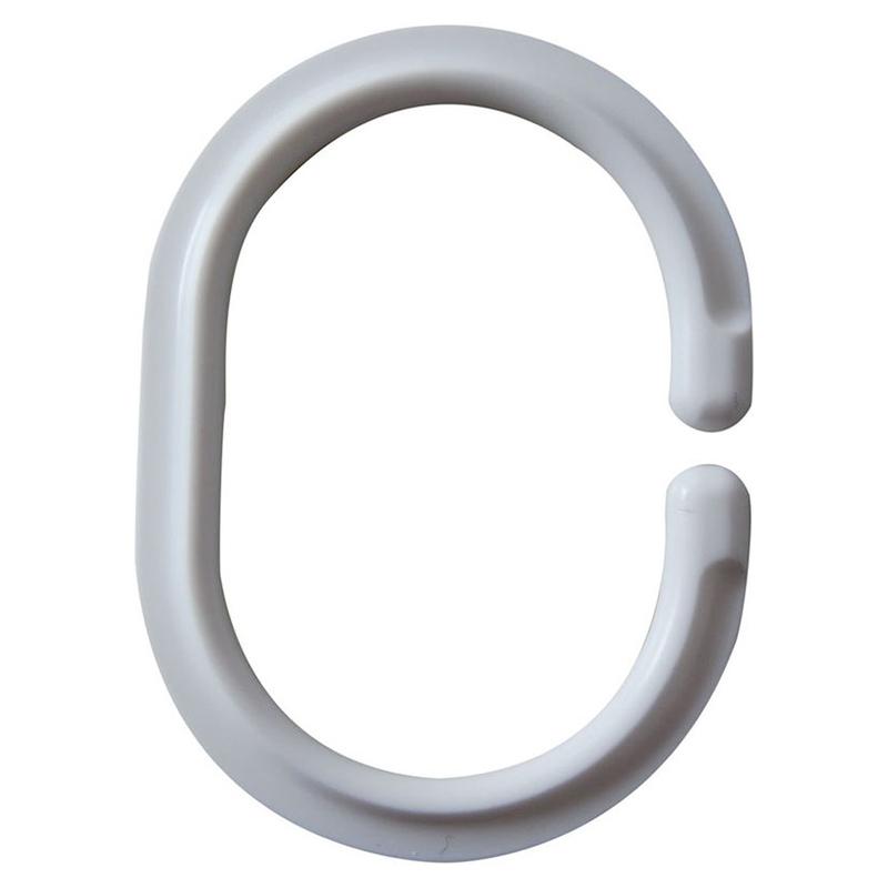 Кольца для шторки для ванны Ridder 12 шт белые 493.01