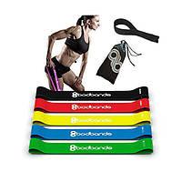 Набор лент-эспандеров резинки для фитнеса BodBands 5 шт
