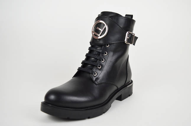 Стильные ботинки с накладкой Euromoda 010627, фото 2