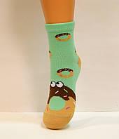 Хлопковые цветные детские носки с рисунком пончик
