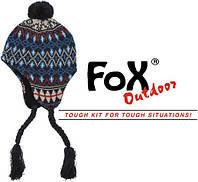 """Шапка с флисовой подкладкой Fox Outdoor """"Peru Callao"""" blue"""