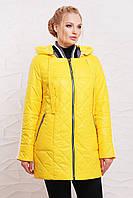 Демисезонная куртка с капюшоном Элви 50-60 р жёлтый